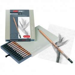 Sada 12-grafitových ceruziek na dizajnové kreslenie