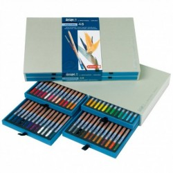 Sada 48-farbičiek na dizajnové a akvarelové kreslenie
