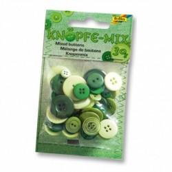 Gombíky – zelený mix