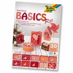 Motívový blok BASICS – červený