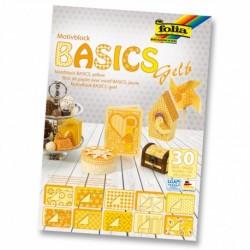 Motívový blok BASICS – žltý