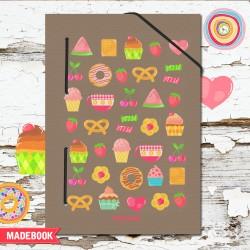 MADEBOOK zápisník A5 – sladkosti