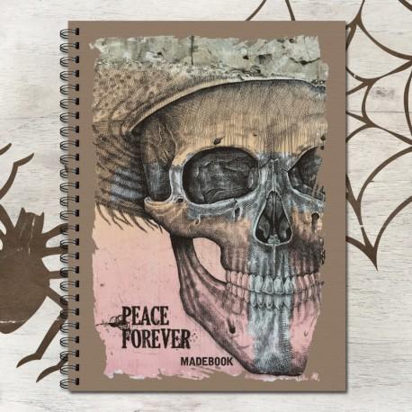 Zošit špirálový A5 linajkový – PEACE