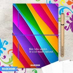 MADEBOOK zápisník A5 – farebné vlny