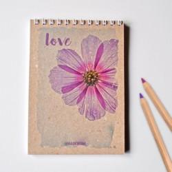 Špirálový blok A6 – LOVE FLOWER