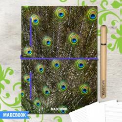 MADEBOOK zápisník A5 – pávie perá