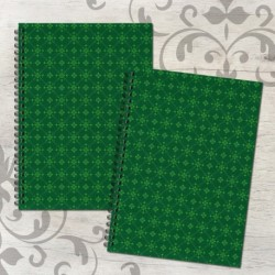 Zošit špirálový A5 čistý a linajkový – FOLK zelený