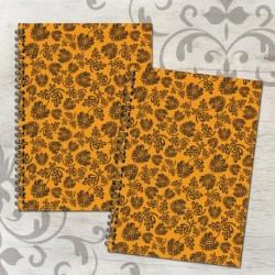Zošit špirálový A5 čistý a linajkový – FOLK oranžový