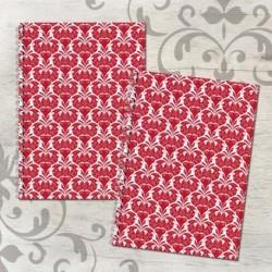 Zošit špirálový A5 čistý a linajkový – FOLK červený