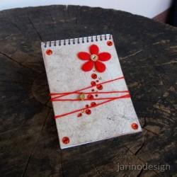 Zápisník špirálový A6 – ČERVENÝ KVET