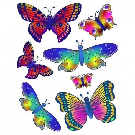 Dekorácia na okná motýle