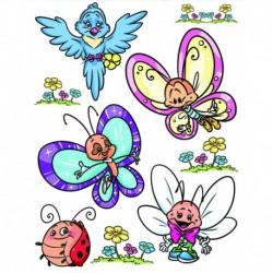 Dekorácia na okná motýle a kamaráti