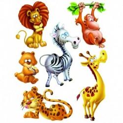 Dekorácia na okná zvieratá z džungle