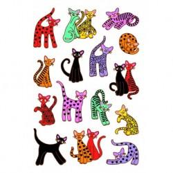 Etikety Decor farebné mačky