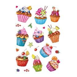 Etikety Decor cupcakes, gliter fólia