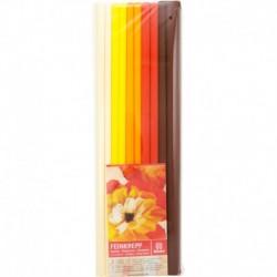 Krepový papier jemný 32g 50cm x 200cm 10 roliek mix 5 farieb