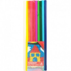 Krepový papier jemný 32g 50cm x 200cm 10 roliek mix farieb