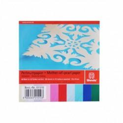 Papier na origami 90g 10x10cm 60 listov mix farieb