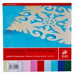 Papier na origami 90g 15x15cm 60 listov mix farieb
