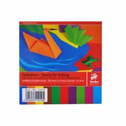 Papier na origami 60g štvorcový 10cm x 10cm 100 listov mix farieb