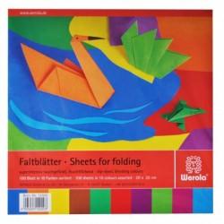 Papier na origami 60g štvorcový 20cm x 20cm 100 listov mix farieb