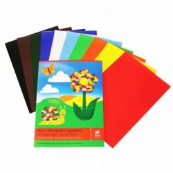 Lesklý papier 22x28 cm 10 listov, mix farieb