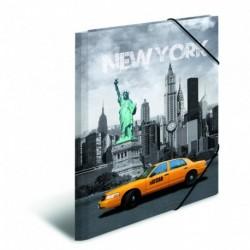 Doska s gumičkou A3 PP New York