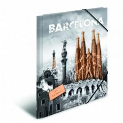 Doska s gumičkou A4 PP Barcelona