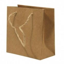 Papierová taška s rukoväťou z juty – sada 12 ks.