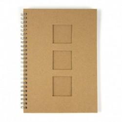 Zápisník špirálový 3 okienka, A5 – kusy