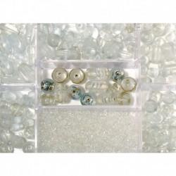 Sklenené korálky – box, rock crystal