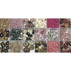 Sklenené korálky – box, pale-pink