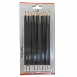 Ceruzky HB 10 ks lakované