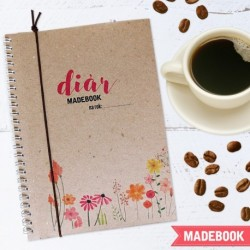 Diár MADEBOOK A5 – KVETY