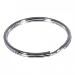 Kľúčový krúžok 30mm ø, platinum – 50 ks