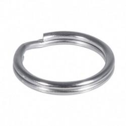 Kľúčový krúžok 15mm ø, platinum – 100 ks