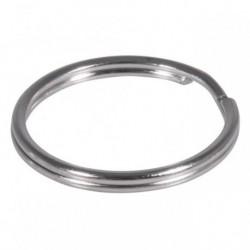 Kľúčový krúžok 25mm ø, platinum – 100 ks