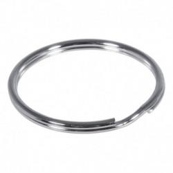 Kľúčový krúžok 40mm ø, platinum – 50 ks