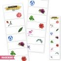 Samolepky - kvety