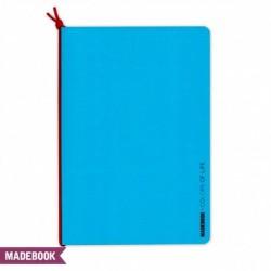 Zošit s gumičkou A5 – modrý