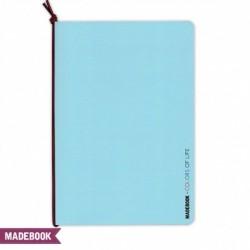 Zošit s gumičkou A5 – modrý pastel