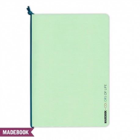 Zošit s gumičkou A5 – zelený pastel