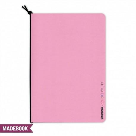 Zošit s gumičkou A5 – ružový pastel