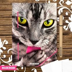 MADEBOOK zápisník A5 - mačka