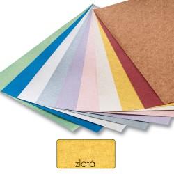Papier s metalickými vláknami - zlatý