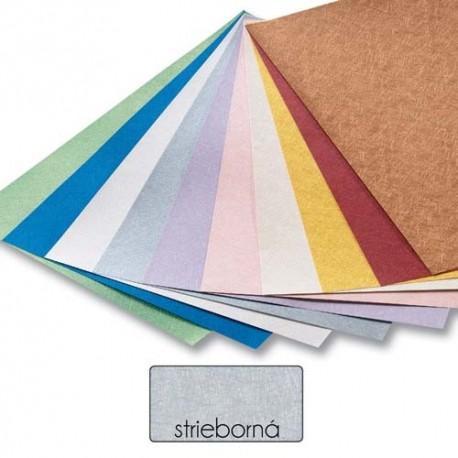 Papier s metalickými vláknami - strieborný