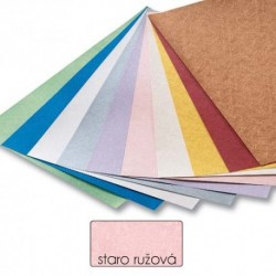 Papier s metalickými vláknami - staroružová