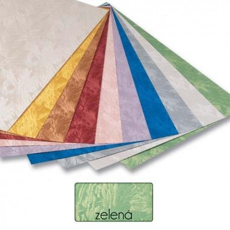 Papier s damaškovým vzorom- zelený