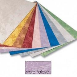 Papier s damaškovým vzorom- starofialový