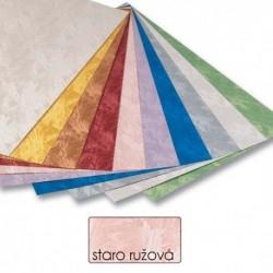 Papier s damaškovým vzorom- staroružová